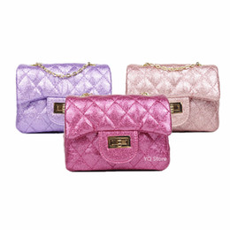 c16ee80d72bc Glitter Kid Girls Quilted Pu Fashion Handbag Cute Baby Children Brand  Princess Party Crossbody Bag With Gold Chain Purse Wallet