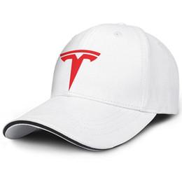 dd449279 Red tesla car motor logo symbol emblem man's Sport golf hat funny  adjustable women summer cap customize trucker cap mesh summer hats