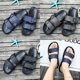 Brown Beach Sandals Australia - newest designer sandals Brand Slippers Blue black Brown Shoes Man Casual Shoes Slippers Beach Sandals Outdoor Slippers EVA light Sandals