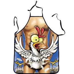 $enCountryForm.capitalKeyWord Australia - 3D Polyester Funny Apron Home Cooking Aprons for Woman Christmas Gift Sexy Men Apron Colorful Kitchen Baking Cleaning Tools