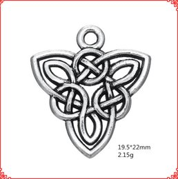 $enCountryForm.capitalKeyWord Australia - 30pcs European and American antique silver Irish knot charms vintage tibetan pendants retro style Nordic amulet knotted Triangle Pendant