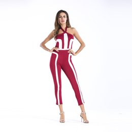 $enCountryForm.capitalKeyWord UK - Ropa Mujer 2019 Summer New Bodysuits Body Donna Solid Color Jumpsuits Female Single Print One-piece Jumpsuit Plus Size
