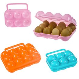Portable Folding Shoes Australia - 2018 Top Quality Portable Hot Carry 6 12 Eggs Container Holder Storage Box Case Folding Portable