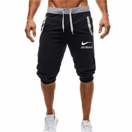 22687e9f3 Summer Mens Jogger Sporting Thin Shorts Hombre Bodybuilding Negro Pantalones  cortos para hombre Gimnasios de fitness Shorts para entrenamiento