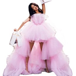 $enCountryForm.capitalKeyWord UK - Mingli Tengda Pink Pure Tulle Wedding Dress Tutu Bridal Gowns Asymetrical Sexy Tiered Wedding Dresses Robes De Bal Longues Party Dresses