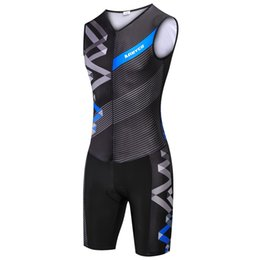 bike suit white NZ - Coodoopai OEM Sleeveless Tri Suit for Men and Women Lycra Spandex Fabric Triathlon Suit Manufacturer Mountain bike jersey suit