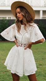 $enCountryForm.capitalKeyWord Australia - 2019 Sexy white lace ruffle short dress women Dresses Summer elegant party bow female dress vestidos Casual daily cute Mini dresses