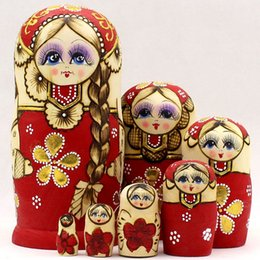 russian toy dolls NZ - Russian nesting dolls imported quality goods seven layers are branded pure hand draw children's educational toys gifts creative period