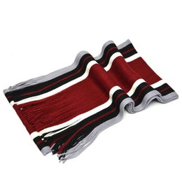 Striped Cotton Scarves Australia - Winter Men Scarf Striped Shawl Of The Wrap Of The Female Cotton Scarf Cashmere Knit Scarves Long Soft Warm Male