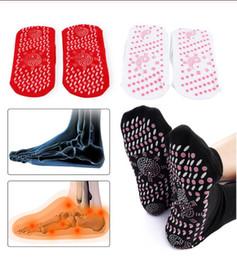 Todos Saúde Idade auto-aquecimento Meias Tourmaline terapia magnética confortável e respirável Massageador pé peúgas mornas cuidados com os pés em Promoção