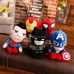 $enCountryForm.capitalKeyWord NZ - DHL Cute 28cm Q style Spider-man Captain America Stuffed toys Super hero plush soft The Avengers plush gifts kids toys Anime kids toys