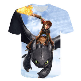 Chinese  2019 New 3D Print Women Men Cartoon How to Train Your Dragon Toothless Tshirt Summer T-shirt Hip Hop Pullover Short Sleeve manufacturers