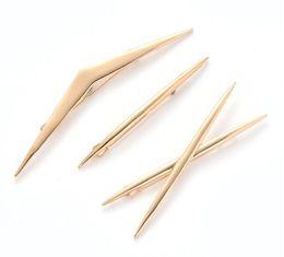 $enCountryForm.capitalKeyWord Australia - European and American new hair accessories Geometric alloy clips polished three-piece cross hairpin women 06