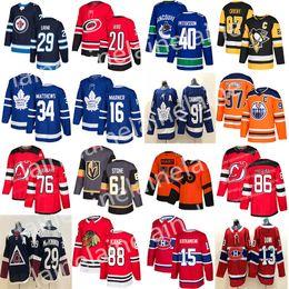 Нью-Джерси Девилс трикотажные изделия хоккея 76 Суббан 86 Джек Хьюз Торонто Мэйпл Лифс Эдмонтон Ойлерз 97 Макдэвид Хоккей Трикотажные на Распродаже