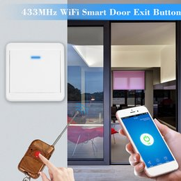 push exit Australia - eWeLink 433MHz WiFi Door Exit Button Wireless Release Push Switch Electronic Door Lock NO COM Lock Sensor Access Control System
