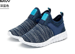 Spring Fall Canvas Shoes Australia - 2019 spring and fall new breathable fly knit children's sneakers joker boys casual running shoes fashion girls shoes