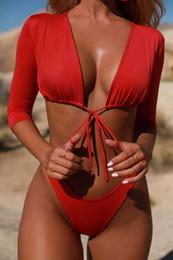Wholesale hot blue bikini back for sale – plus size Bikini New Belted Swimsuit Amazon Hot Style Swimsuit Sexy European American Style Swimsuit
