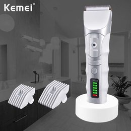 display variable UK - New Kemei KM-848 hair clipper ceramic hair clipper with digital display variable speed adjustment electric push