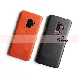 Iphone Backcover UK - DOKDO Protect Cover Shockproof Soft Backcover For Samsung Galaxy S9 S8 Plus Super Slim Premium Genuine Leather Phone Case