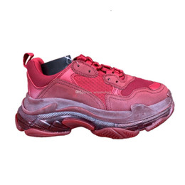 $enCountryForm.capitalKeyWord Australia - Triple S designer sneakers Wine red color women mens trainers Top Factory Version 2019 new womens mens Casual Shoes with Box