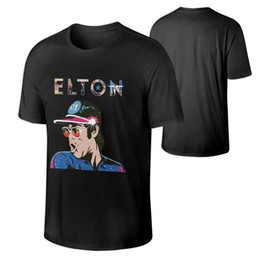 Comfort Cotton T Shirts UK - Elton John Men Crewneck Ultra Cotton Comfort Short Sleeve Adult T-Shirt