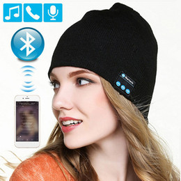 Beanie Headphones Wireless Australia - Bluetooth Earphone Music Hat Winter Wireless Headphone Beanie Cap Headset With Mic Sport Hat For Huiwei Sony Xiaomi Phone Gaming Headset