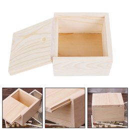 $enCountryForm.capitalKeyWord Australia - New Handmade Jewelry Storage Box Wood Plain Candy Case Ring Organizer Crafts Case Handmade Soap Packaging Wooden