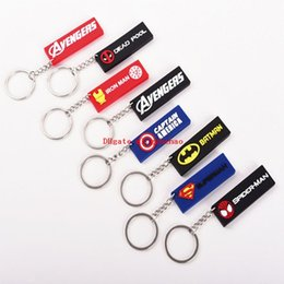 Cell Phone Jewelry Charms Australia - 100 Pcs lot Avengers Captain Iron-Man Cell Phone Keychain Pendant Soft Rubber phone Key Chain 8 styles Jewelry Souvenirs Gift key Ring