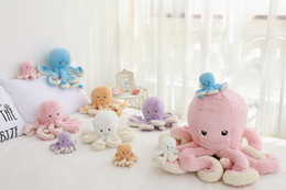 boys xmas toys Australia - Cute 80cm Super Soft Octopus Doll Plush Toy, Stuffed Animal Bolster& Pillow, Pendant Ornament for Xmas Kid Girl Birthday Gift,Decoration 4-3