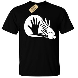 Кролик Hand Shadow Кукольный Футболка Забавный Прохладный Мужские Мужчины Женщины Унисекс Мода футболка Бесплатная Доставка