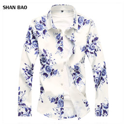 $enCountryForm.capitalKeyWord NZ - 2018 Autumn New Fashion Chemise Homme Chinese Style Long Sleeve Floral Shirt Men Slim Fit Mens Casual Dress Shirts Plus Size 7XL