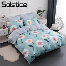 99e2e1ca32d Solstice Home Textile 100% Cotton Bedding Sets Girls Kid Teen Adult Linen  Flower Chrysanthemum Duvet Cover Pillowcases Bed Sheet