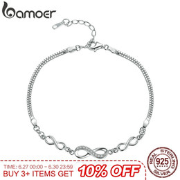 $enCountryForm.capitalKeyWord Australia - Bamoer Authentic 925 Sterling Silver Endless Love Infinity Chain Link Adjustable Women Bracelet Luxury Silver Jewelry Scb037 Y19062901