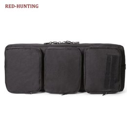 TacTical gear pack online shopping - New cm Tactical Airsoft Carrying Dual Rifle Case MP5 Gun Bag Military Hunting Shoulder Pouch Rifle Gear Bag