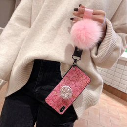 Iphone Cases Gold Color Australia - 2019 Latest Pink color Cases Max Xs marble grain gold foil for Iphone X Case Designer rhinestone hairball designer phone case