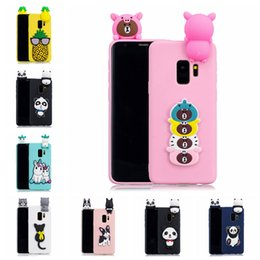 $enCountryForm.capitalKeyWord Australia - For Samsung S9 Case Cover Pasted 3D Funny Panda Dog Cat Pineapple Sticking a Little Silicon Doll 61 Models Option