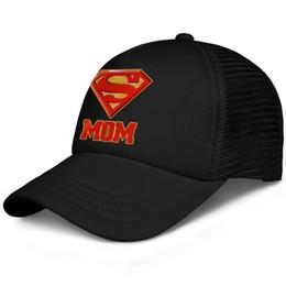 Cool Unisex Kids Hats Australia - Superman Super Mom DC Comics for Mother's Day kids baseball caps Curved Teen baseball cap Pigment black cap cool hats hats