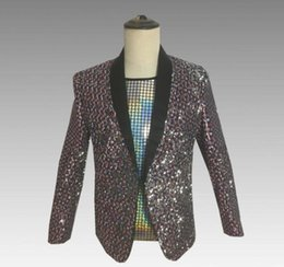 $enCountryForm.capitalKeyWord Australia - sequins blazer men suits designs jacket mens stage costumes for singers clothes dance star style dress masculino homme korean 0207