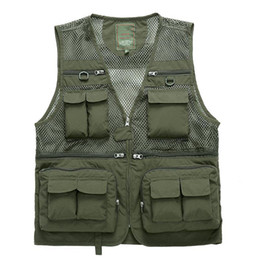 $enCountryForm.capitalKeyWord Australia - Quick-Drying Mesh Tactical Ultralight Fishing Outdoor Beathable Men Strong High Quality Multi-pockets Professional Sports Vest
