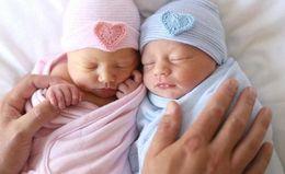 CroChet hats spring summer online shopping - Newborn hat Beanies Sweet heart baby knit hats Maternity Autumn Cotton warm beanie Striped European quality Spring months