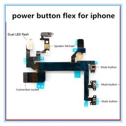 Volume Control Replacement Australia - Power Button Volume Buttons Control Connector Flex Cable For iPhone 5 5s 4 4s Light Sensor Power Flash Mute Switch ON OFF Replacement Parts