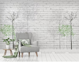 $enCountryForm.capitalKeyWord UK - custom size 3d photo wallpaper mural living room forest tree brick wall elk 3d picture sofa TV backdrop wallpaper mural non-woven sticker
