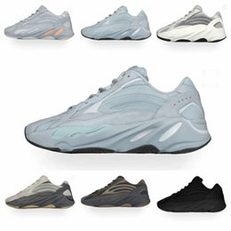 for magnets Australia - Hospital Blue 700 Kanye west Running shoes for men women 3m reflective Magnet Static SALT Inertia Wave Runner mens trainers fashion sports S