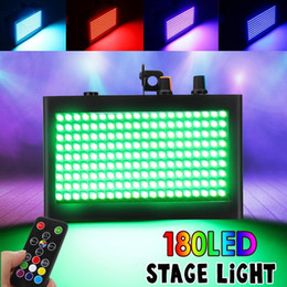 music activated laser light UK - 180 LED 35W Colorful Strobe Flash Laser Projector RGB Stage Lights Sound Activated DJ Disco Music Christmas KTV Wedding Party