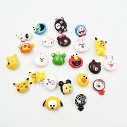 snap button making UK - Hand Made Resin Cute Cartoon Snap Button Charms 18MM Animal Kingdom Charm Fit For 18MM Ginger Snap Bracelet Necklace Keychain Jewelry