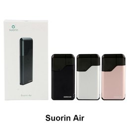 Metal Air Australia - Suorin Air Starter Kit Build-in 400mah Battery and 2ml Cartridge Portable Vape Kit Suorin Air Kit 7 Colors Electronic Cigarette DHL