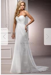 Silk Satin Sheath Wedding Dresses Australia - Sheath Column Strapless Sweetheart Court Train Chiffon Wedding Dress sss