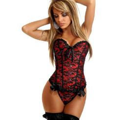 In magazzino palazzo europeo pizzo nero indumenti intimi per gilet matrimonio rosa rosso pizzo tie up corsetti senza spalline scolpire il corpo pigiameria
