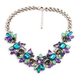 $enCountryForm.capitalKeyWord Australia - Elegant Luxury Women Chunky Chain Charm Jewelry Colorful Crystal Flower Bib Statement Necklace Choker Floral Jewelry