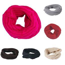 $enCountryForm.capitalKeyWord Australia - Fashion Womens Winter Warm Knit Neck Circle White Wool Blend Cowl Snood Multi-purpose Wool Scarf bufandas invierno mujer 2018